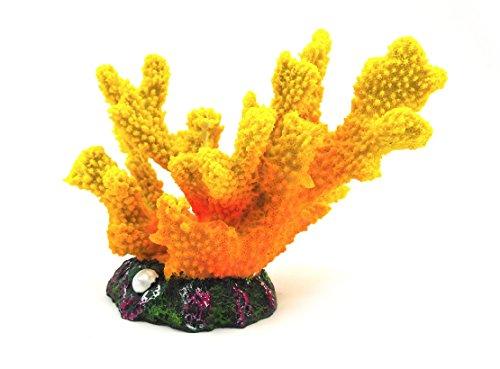 Base Gear アクアリウム を華やかに オーナメント 選べる レプリカ イエロー サンゴ タイプ (イエローサンゴA)