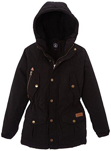 Volcom - Jacke Starget Parka, Cappotto bambini e ragazzi, Black, X-Large (Taglia produttore: XL)