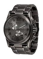 Vestal Men's De Novo Silver/Silver/Black Watch by Vestal