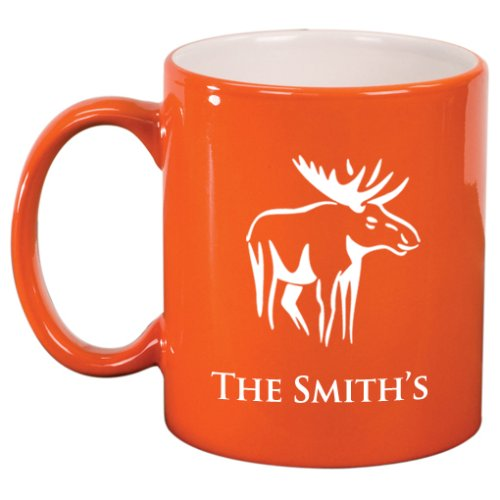 Moose Engraved Coffee Mug