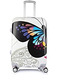 Tramp & Badger 360Â Rotating Wheels, Butterfly Printed Pattern Non-Breakable & Extra Light Weight Trolley Bag-...