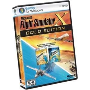 MICROSOFT Microsoft Flight Simulator X Gold Edition. FLIGHT SIM X-GOLD WIN32 NA DVD BOX DVD. Simulation Game DVD Case Retail - DVD-ROM - PC - English