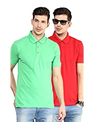 Yellow Submarine Men'S Pack Of 2 Cotton Polo T-Shirt With Collar - B010AOMKIA