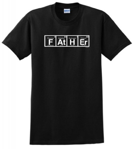 Father Spelled With Periodic Table Elements T-Shirt Large Black front-931050