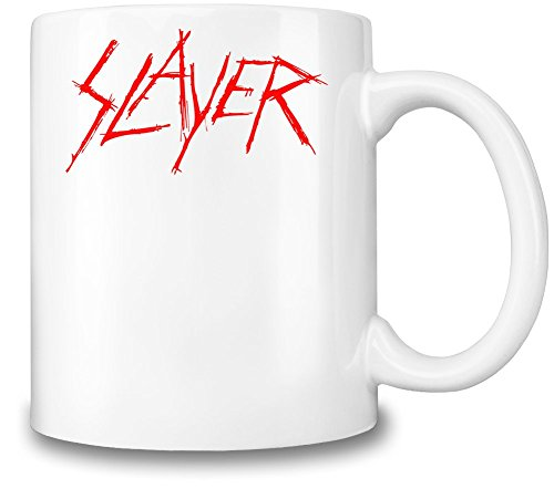 Slayer Red Logo Tazza Coffee Mug Ceramic Coffee Tea Beverage Kitchen Mugs By Genuine Fan Merchandise
