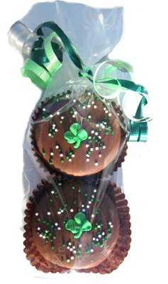 St. Patrick's Day Oreo Cookie 2 Piece Gift Bag - 4 bags included in this product (Gourmet,Olde Naples Chocolate,Gourmet Food,Cookies,Chocolate Cookies)