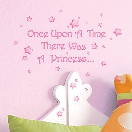 Main Street Wall Creations Sticker - Once Upon A Time There Was A Princess....