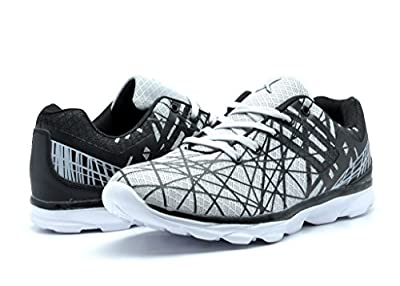 KINETIC 141016 Men's Fun Print Fashion Sneakers Light Weight Go Walk Lace Up Mesh Upper Training Shoes