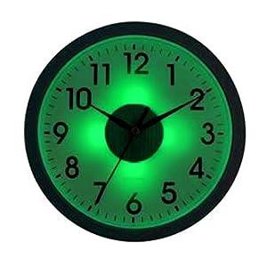 Reloj de pared luminoso con detector de luz hogar - Maquinaria para relojes de pared ...