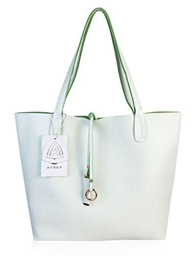 Avber Womens Thread Stitching Pure Color Handbag Shoulder ...