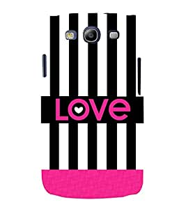 Love Black Lines 3D Hard Polycarbonate Designer Back Case Cover for Samsung Galaxy S3 Neo :: Samsung Galaxy S3 Neo i9300i
