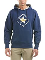 Hot Buttered Sudadera con Capucha Green Star (Azul)