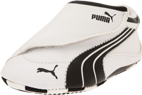 Puma Drift Cat 4 Low Crib Crib Shoe (Infant/Toddler),White/Black/White,4 M US Toddler