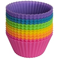Pantry Elements Silicone Baking Cups - Set of 12 Reusable Cupcake Liners