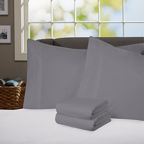 Gray Bedding Sets King 9846 front