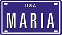 """MARIA USA BIKE LICENSE PLATE. OVER 400 NAMES AVAILABLE. TYPE IN NAME"""" USA PLATE IN SEARCH. YOUR NAME WILL SHOW UP."""""""
