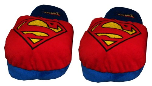 Cheap Superman Logo DC Comics Superhero Adult Mens Slippers (EMDC7009)
