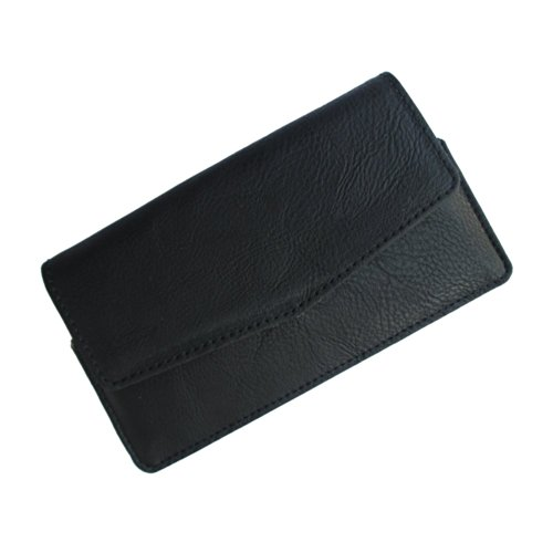 i-KitPit : PU Leather Flip Pouch Case Cover For BlackBerry Z3 (BLACK)