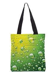 Snoogg Dew Drops Vector Background Designer Poly Canvas Tote Bag