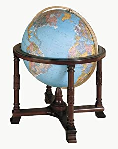 Replogle Globes Illuminated Diplomat Globe, Blue Ocean, 32-Inch Diameter