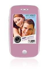Ematic EM608VIDP 3-Inch Touch Screen 8 GB MP3 Video Player with Built-In 5 MP Digital Camera(Pink)