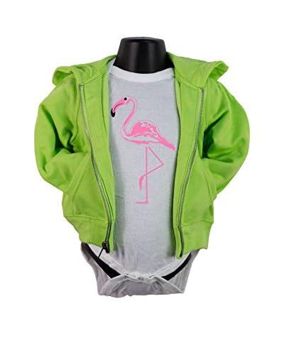 KidTeez Kid's Pink Flamingo Bodysuit Hoodie
