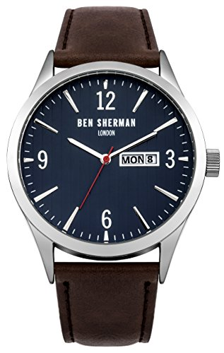 ben-sherman-mens-quartz-watch-with-blue-dial-analogue-display-and-brown-leather-strap-wb053br