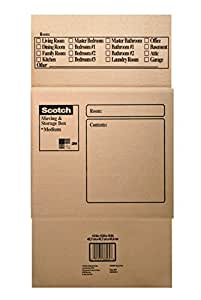 Scotch Moving and Storage Box, 18-Inches x 18-Inches x 16-Inches, Medium, 25-Pack