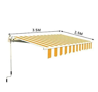 Homcom, 3,5 x 2,5 m, manuell einfahrbar, Orange/Weiß mit Drehkurbel NEU von Mh-Star bei Gartenmöbel von Du und Dein Garten