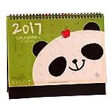 [Panda] bureau pratique Calendrier, Septembre 2016 à Décembre 2017...