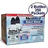 NeilMed Sinus Rinse - 2 Bottles - 250 Premixed Packets - Value Packby NeilMed Sinus Rinse