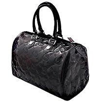 Hello Kitty Black Embossed City Bag