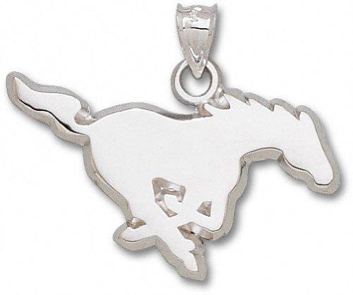 SMU Mustangs Sterling Silver Mustang 7/8