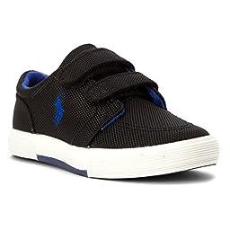 Boy\'s Polo Ralph Lauren Kids, Faxon II toddler sneakers BLACK ROYAL 10 M