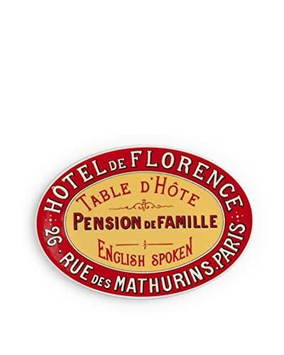 Rosanna Voyage Hotel De Florence Tray, Red/Yellow