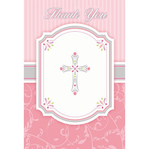 Pink Blessing Thank You Notes (20 per package)