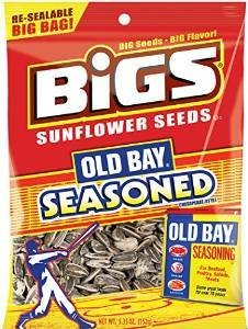 Bigs Old Bay Seasoned Sunflower Seeds 5.35oz 2 pk (Cheese Flavored Sunflower Seeds compare prices)