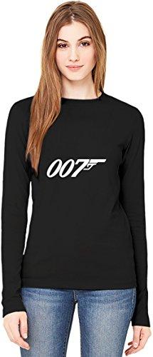 007 James Bond T-Shirt da Donna a Maniche Lunghe Long-Sleeve T-shirt For Women| 100% Premium Cotton| DTG Printing| XX-Large