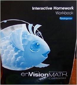 Envision math grade 2 interactive homework workbook kindergarten