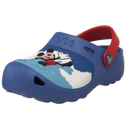 Crocs Mickey Makin Waves Clog (Toddler/Little Kid),Sea Blue/Red,3 M US Little Kid/ 5 M US Women's