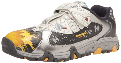 Stride Rite Millennium Falcon Lighted Sneaker (Toddler/Little Kid),Black/Silver/Grey,9 W Us Toddler front-782455