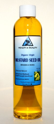 Mustard Oil Unrefined Organic Carrier Cold Pressed Pure 8 Oz front-877990