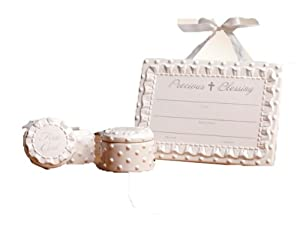 C.R. Gibson Ceramic Announcement Gift Set, Bless This Child