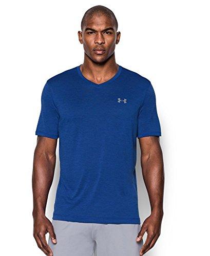 Under Armour Men's Tech V-Neck T-Shirt, Royal (402), Medium