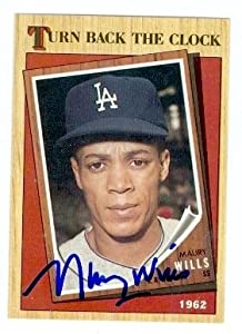 Maury Wills Autographed Hand Signed baseball card (Los Angeles Dodgers) 1987 Topps... by Hall+of+Fame+Memorabilia