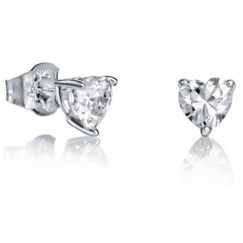 Pulsante orecchini d'argento Viceroy zirconi 21005E000-30 donne