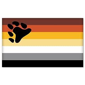 """Gay Pride Bear Community Flag car bumper sticker 5""""x 4"""""""