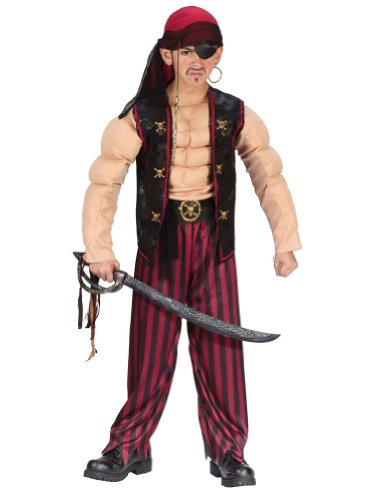 Muscle Pirate Child Sm Kids Boys Costume