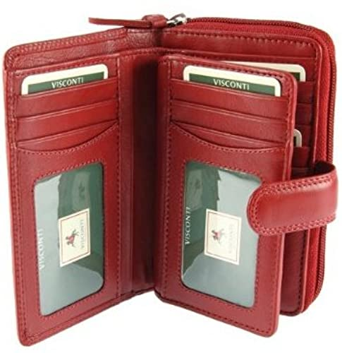 07. Visconti Heritage-33 Ladies Multi Soft Leather Card Holder Wallet and Purse