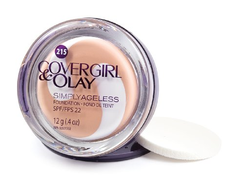 CoverGirl & Olay Simply Ageless Foundation, Natural Ivory 215, 0.40-Ounce Package